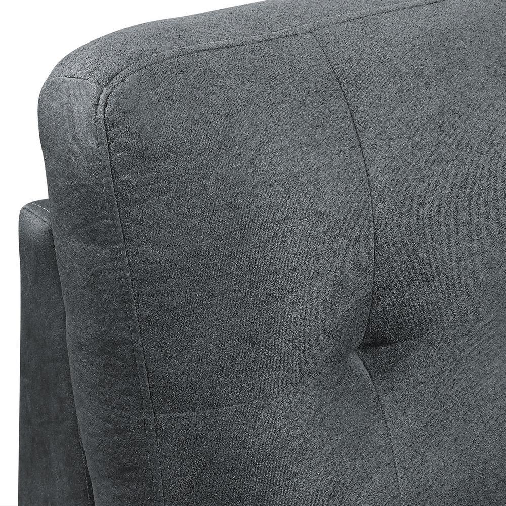 Super Harper Bright Designs Grey 3 Piece Microfiber Sectional Ibusinesslaw Wood Chair Design Ideas Ibusinesslaworg