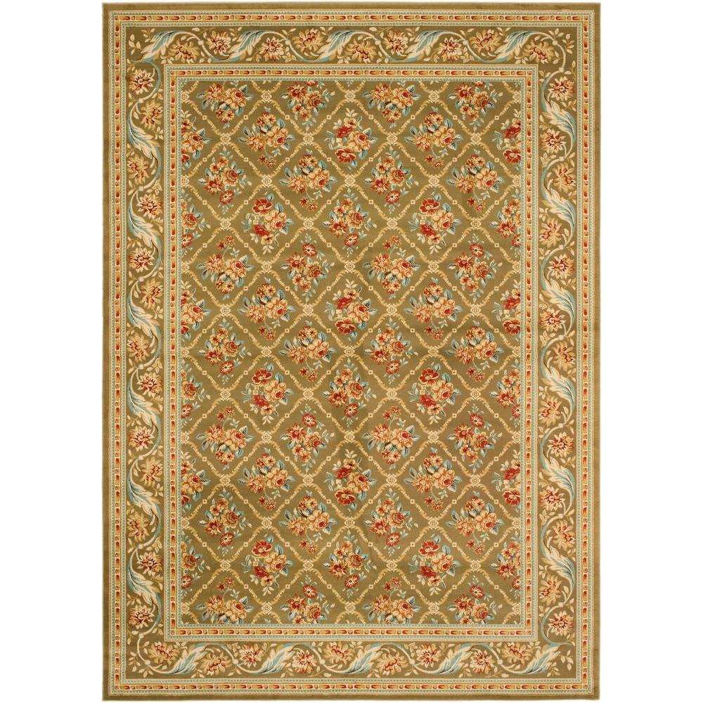 Safavieh Lyndhurst Green 6 ft. 7 in. x 9 ft. 6 in. Area Rug