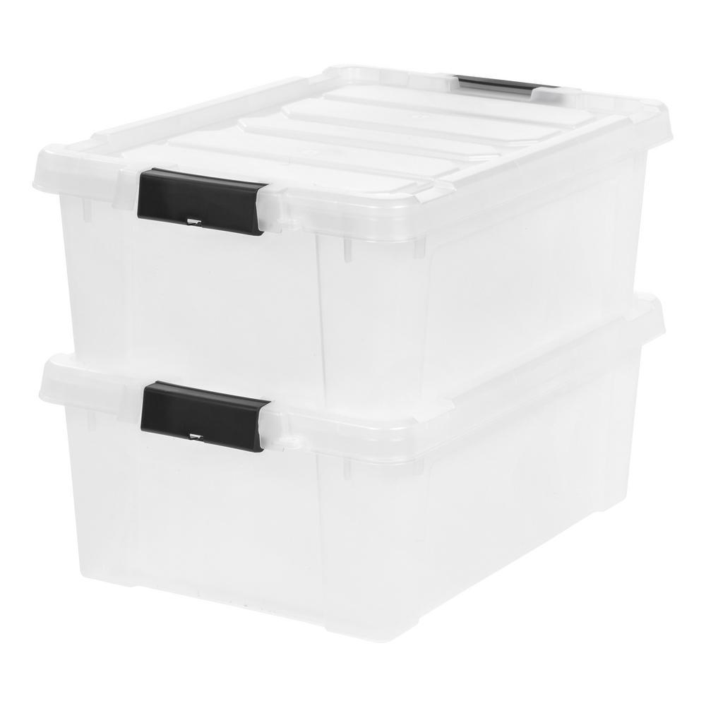 10 Gal Store It All Storage Bin In Clear 2 Pack