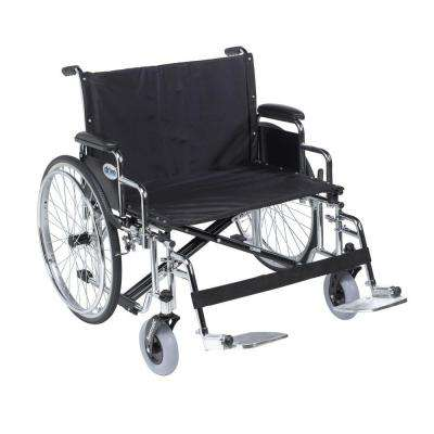 Sentra EC Heavy Duty Extra Wide Wheelchair, Detachable Desk Arms, Swing Away Footrests and 26 in. Seat