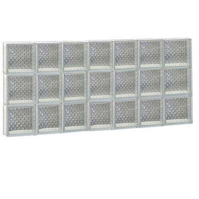 44.25 in. x 23.25 in. x 3.125 in. Frameless Diamond Pattern Non-Vented Glass Block Window
