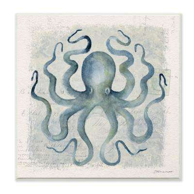 "12 in. x 12 in. ""Octopus Watercolor Illustration"" by Stephanie Workman Marrott Wood Wall Art"