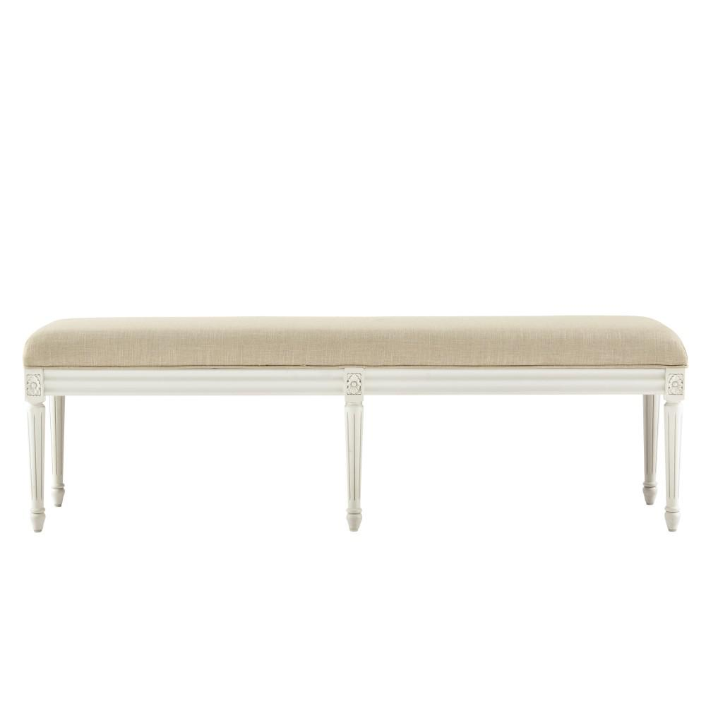 Home decorators collection jacques antique ivory bench for Home decorators bench