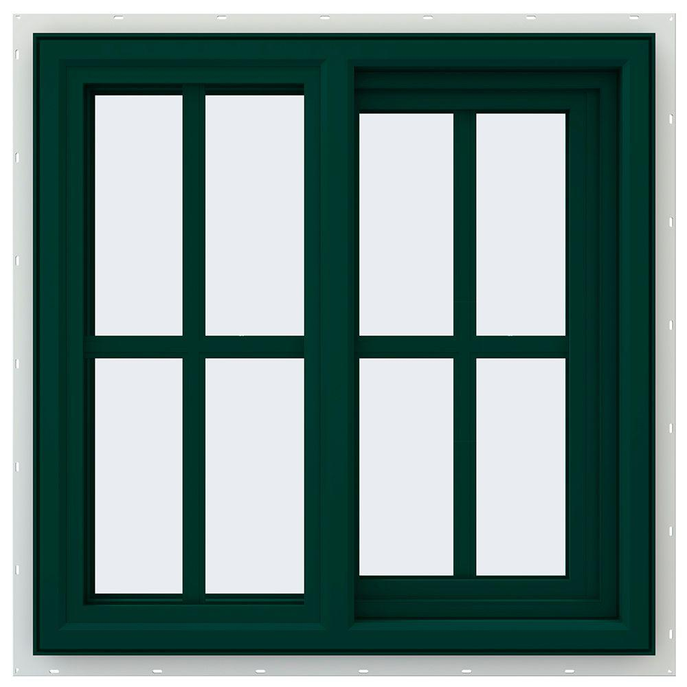 23.5 in. x 23.5 in. V-4500 Series Right-Hand Sliding Vinyl Windows