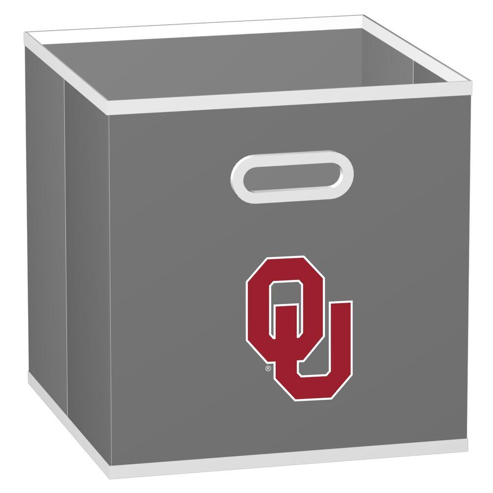 MyOwnersBox College Storeits University of Oklahoma 10-1/2 in. x 11 in. Grey Fabric Storage Drawer