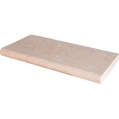 Aegean Pearl 12 in. x 24 in. Tumbled Marble Pool Coping (10 Piece / 20 Sq. ft. / Pallet)