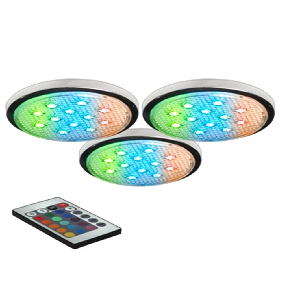 BAZZ LED RGB Under-Cabinet Puck Lights (3-Pack)