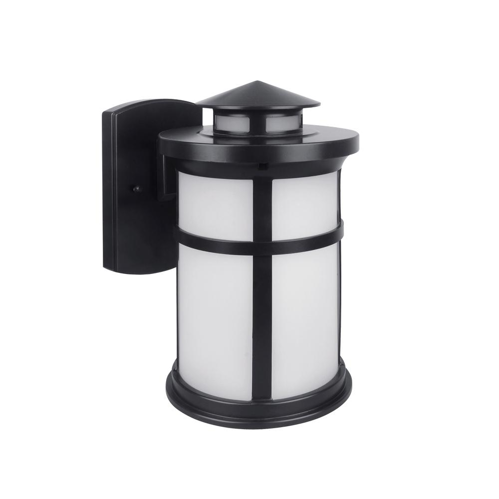 Bronze Outdoor Integrated LED Wall Mount Lantern