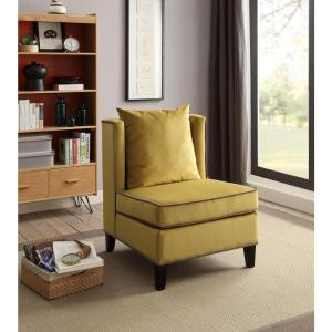Acme Furniture Ozella Accent Chair in Yellow by Acme Furniture