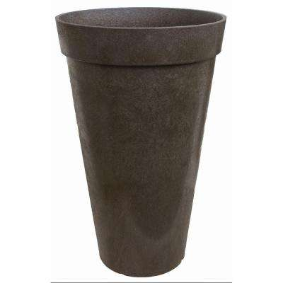 Aria 14-1/2 in. W x 26 in. H Earth Rubber Self Watering Planter