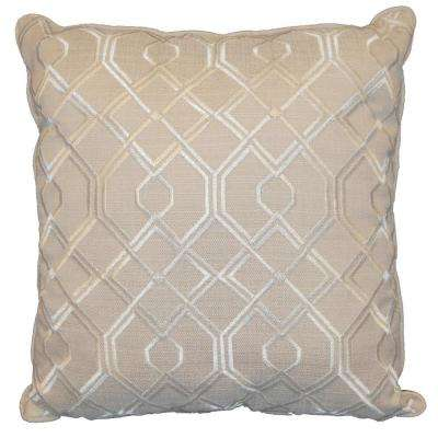 Geo Ivory Standard Decorative Pillow