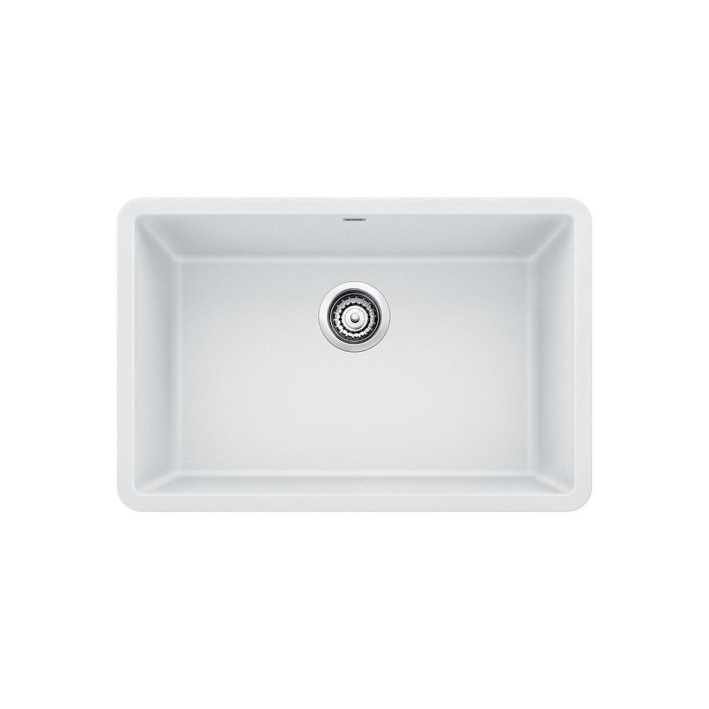 Kitchen Sink White: Blanco PRECIS Undermount Granite Composite 27 In. Single