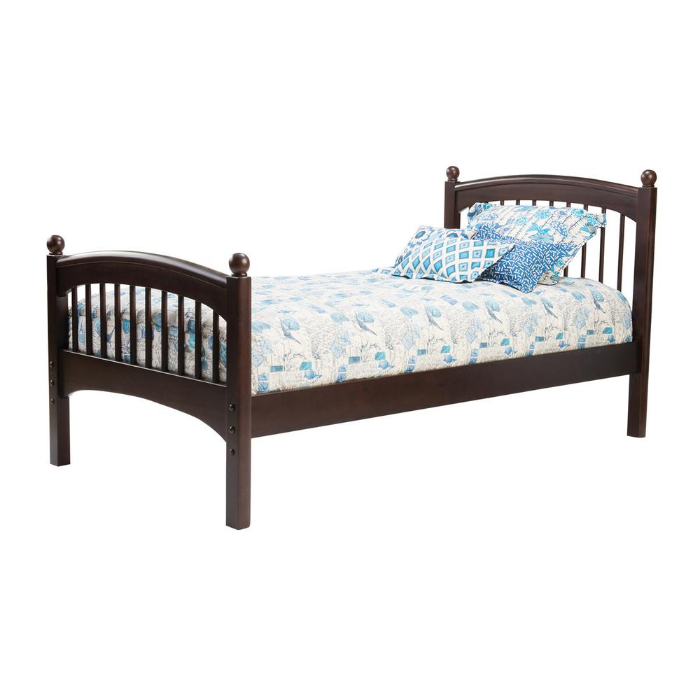 Bolton Furniture Windsor Espresso (Brown) Twin Bed The Windsor bed features a classic spindle with soft edges and finials. Coordinates with the Essex furniture collection, but versatile for any room. Bolton bedroom furniture is built to last. Color: Espresso.