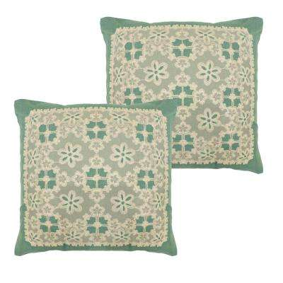 Cecilia Teal Polyester Slip Covers (Set of 2)