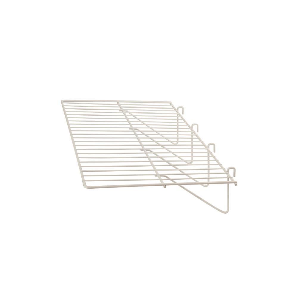 23-1/2 in. L x 12 in. D White Straight Shelf