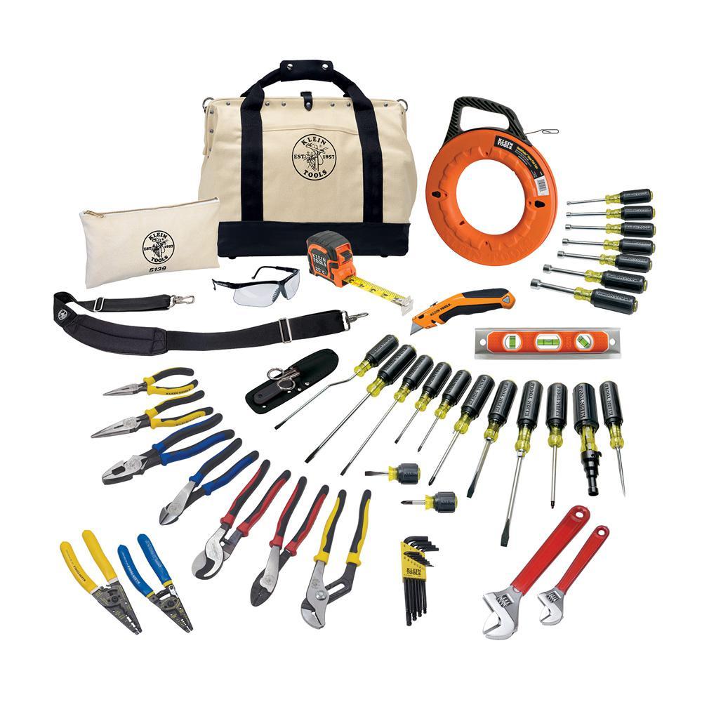 Klein Tools 41 Piece Journeyman Tool Set 80141 The Home Depot Digital Circuit Breaker Finder Canada