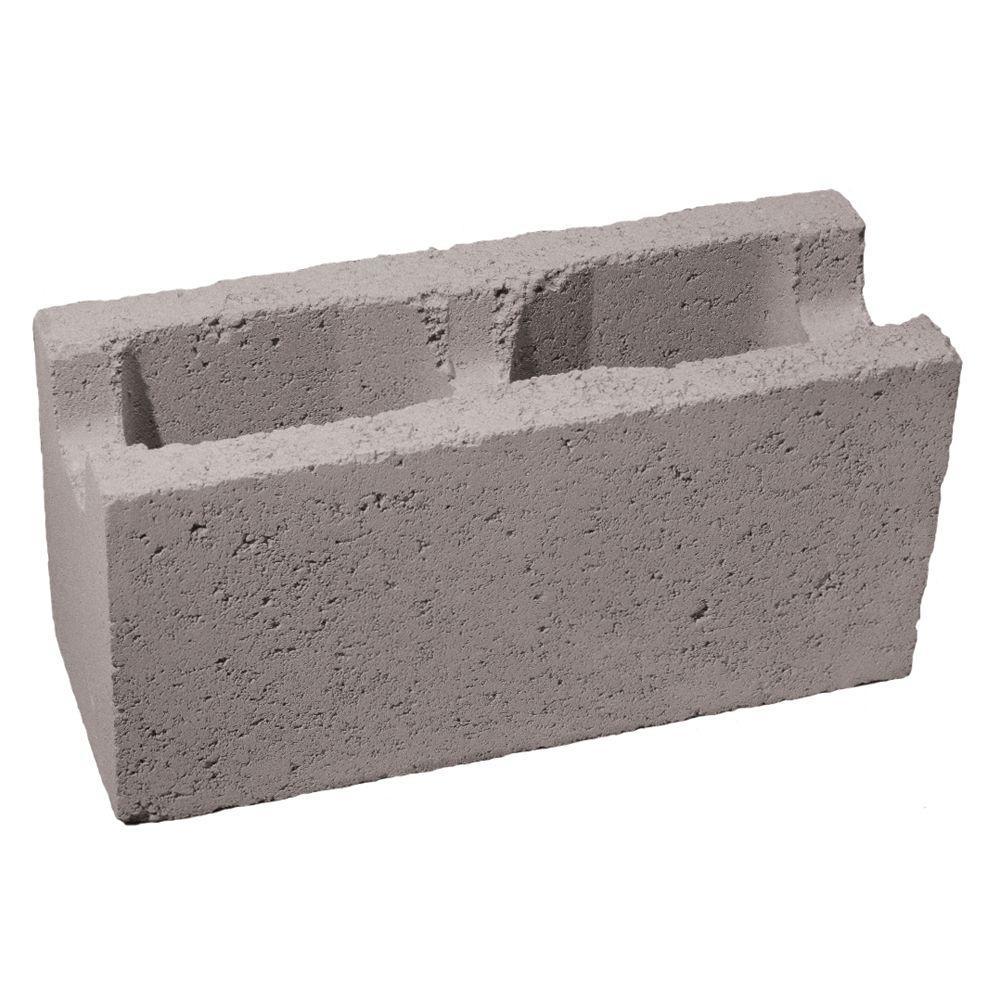 null 6 in. x 8 in. x 16 in. Gray Concrete Block