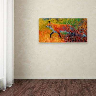 "12 in. x 24 in. ""Red Fox 1"" by Marion Rose Printed Canvas Wall Art"