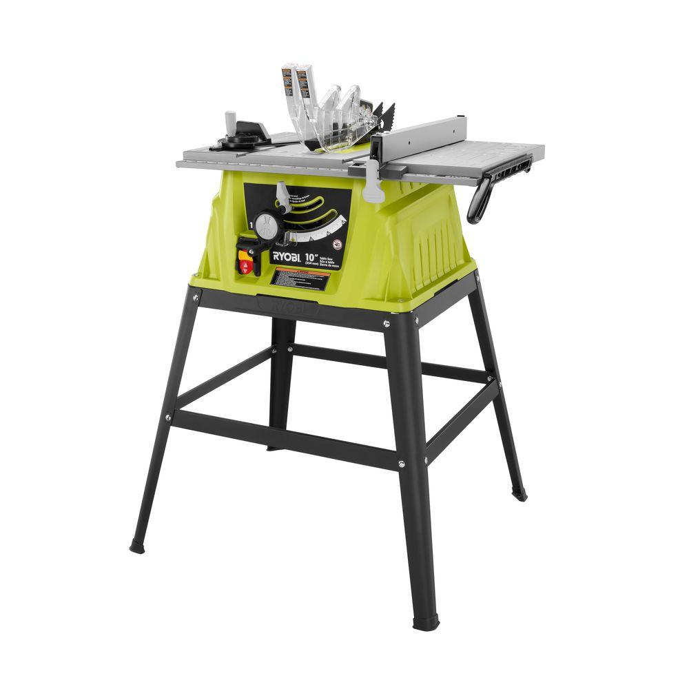 Ryobi 15 Amp 10 in. Table Saw-RTS10G - The Home Depot