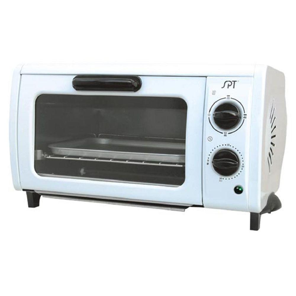 Spt 2 Slice Off White Toaster Oven So 1004 The Home Depot