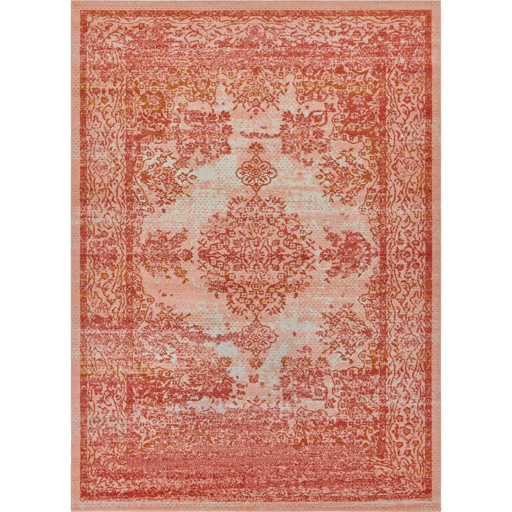 Well Woven Firenze Cannes Pink 8 ft. x 10 ft. Modern Vintage Medallion Artisan Thin Area Rug was $132.55 now $99.41 (25.0% off)