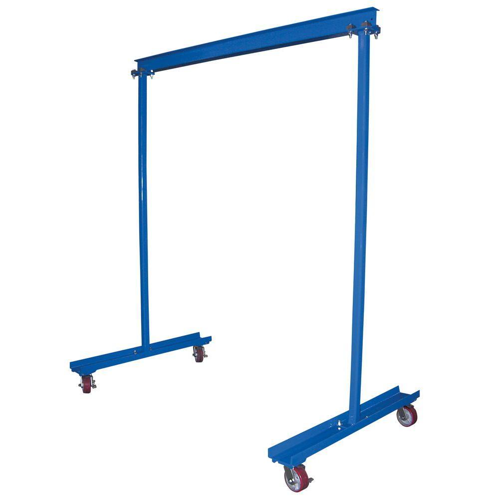 Vestil 600 lb capacity portable work area gantry crane for Shop hoist plans