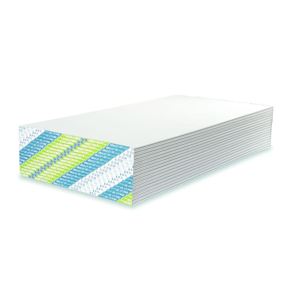 usg sheetrock brand 1 2 in x 4 ft x 12 ft ultralight drywall rh homedepot com