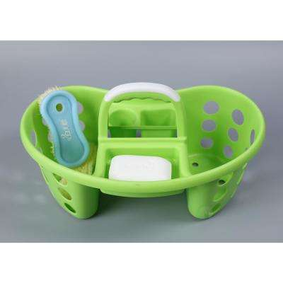 Green Portable Plastic Tool and Cleaning Caddy
