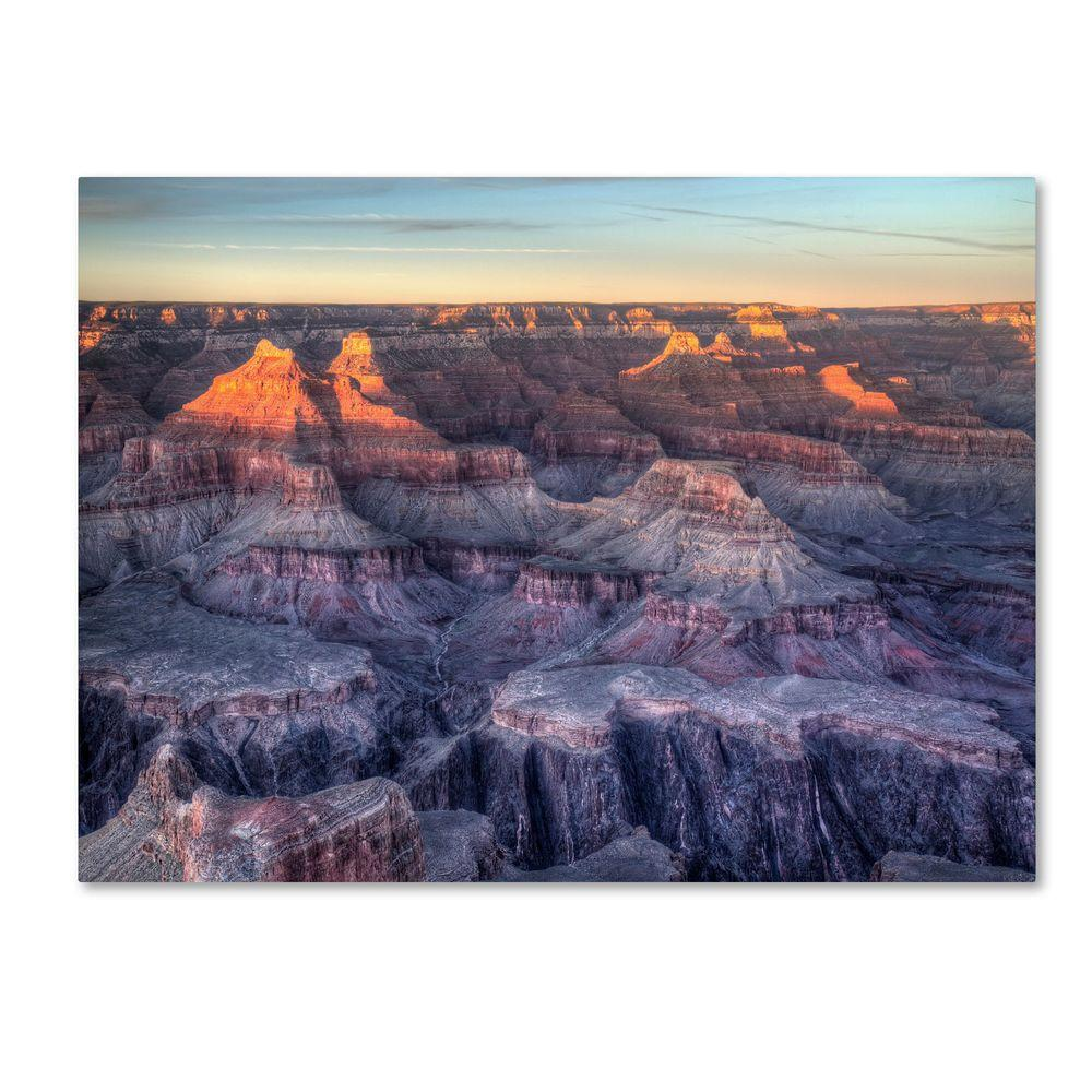 14 in. x 19 in. Grand Canyon Sunset Canvas Art