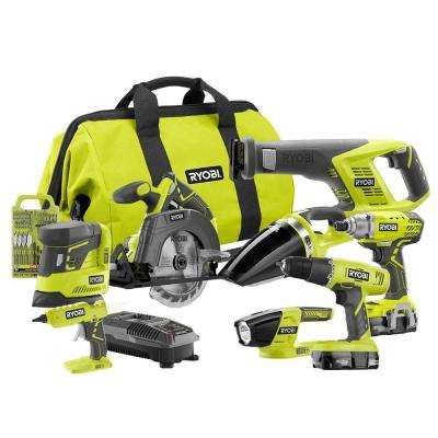 18-Volt ONE+ Cordless Lithium-Ion 8-Tool Combo Kit with (2) 1.3 Ah Batteries, Charger and Bag