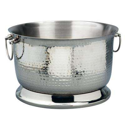 3.75 Gal. Hammered Stainless Steel Party Tub with Double Wall Insulation