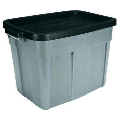 Roughneck 18 Gal Storage Tote in Gray (6-Pack)