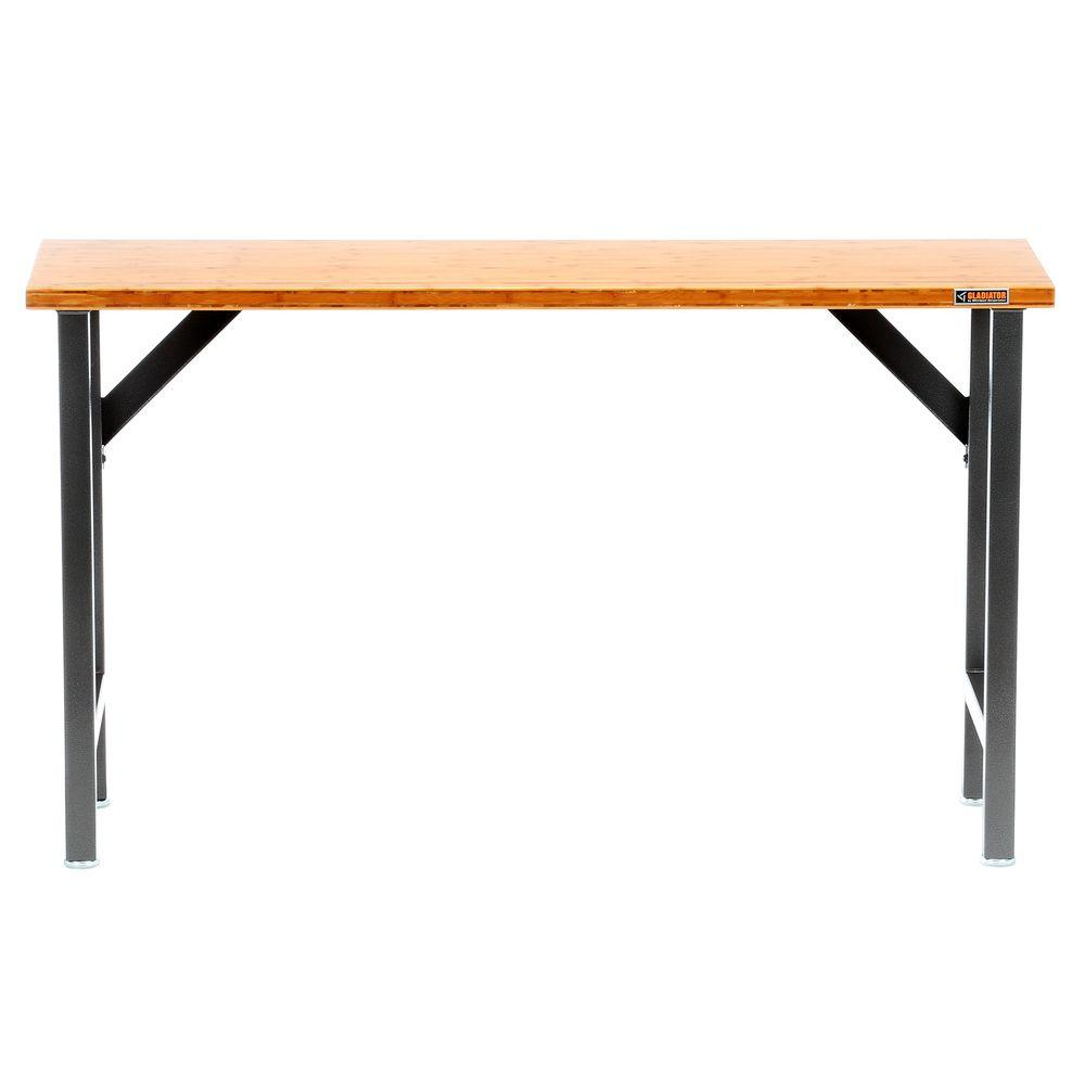 Gladiator Ready to Assemble 39 in. H x 67 in. W x 20 in. D Bamboo Top Workbench