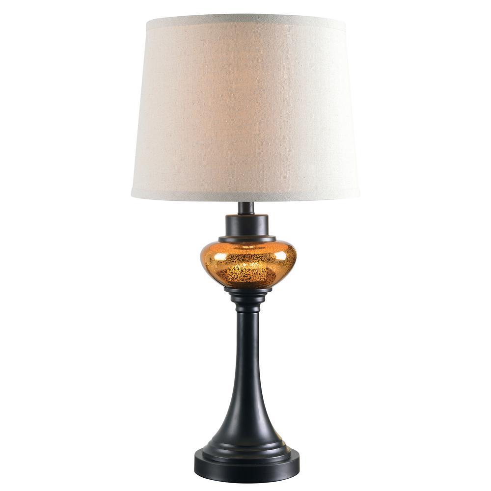 Trumpet 28 in. Bronze Table Lamp