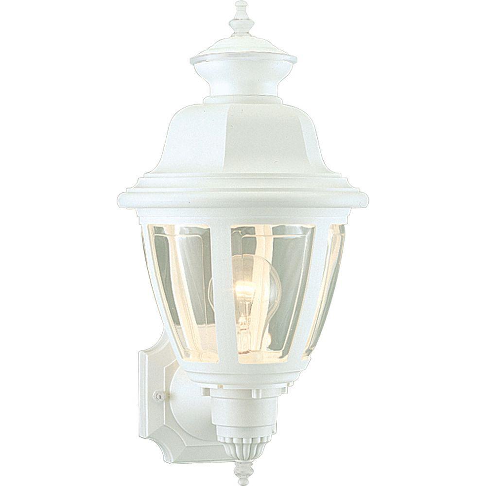 Progress Lighting White Outdoor Wall Lantern-P5737-30 - The Home Depot