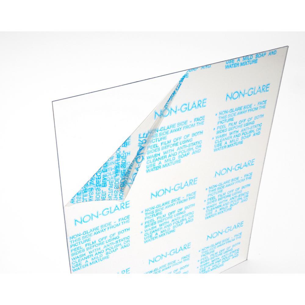 OPTIX 11 in  x 14 in  x 0 050 in  Clear Non-Glare Acrylic Sheet