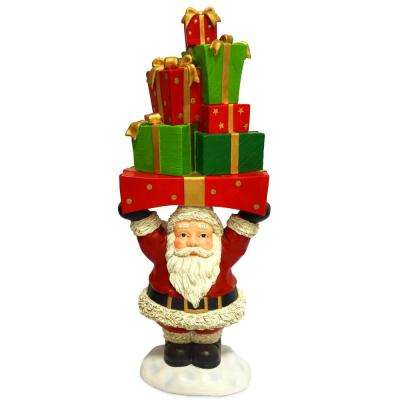 30 in. Santa Claus Holding Presents