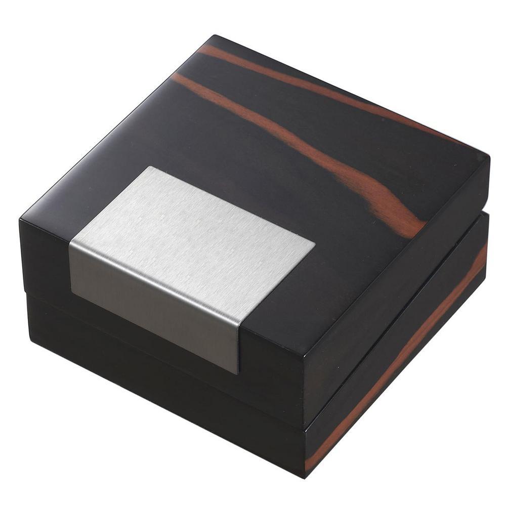 Kadar Black Jewelry Wooden Gift Box