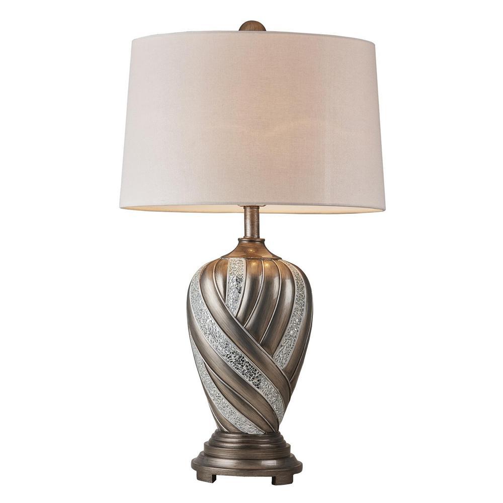 Kairavi 29.75 in. Silver Table Lamp