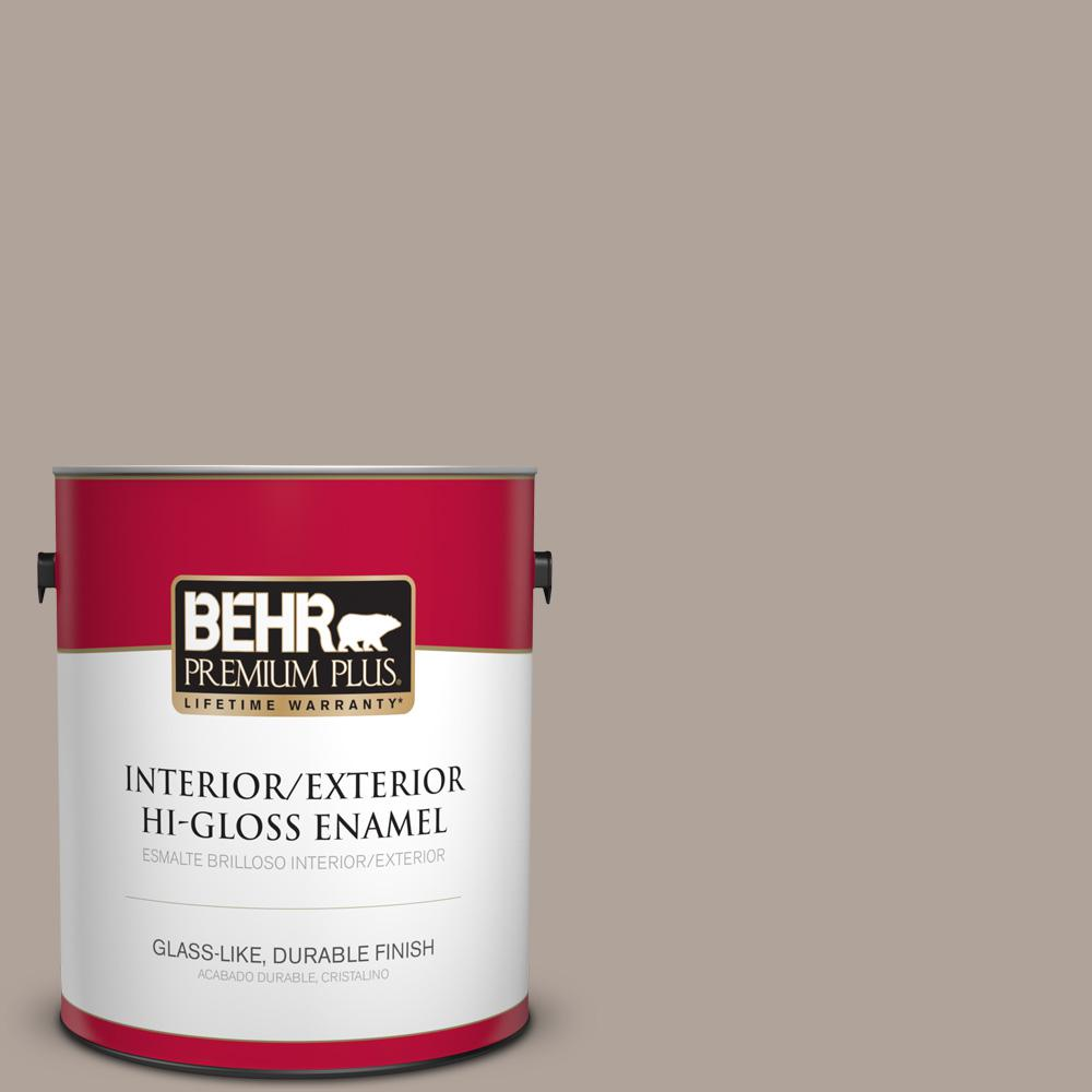 1 gal. #MQ2-56 Abbey Stone Hi-Gloss Enamel Interior/Exterior Paint