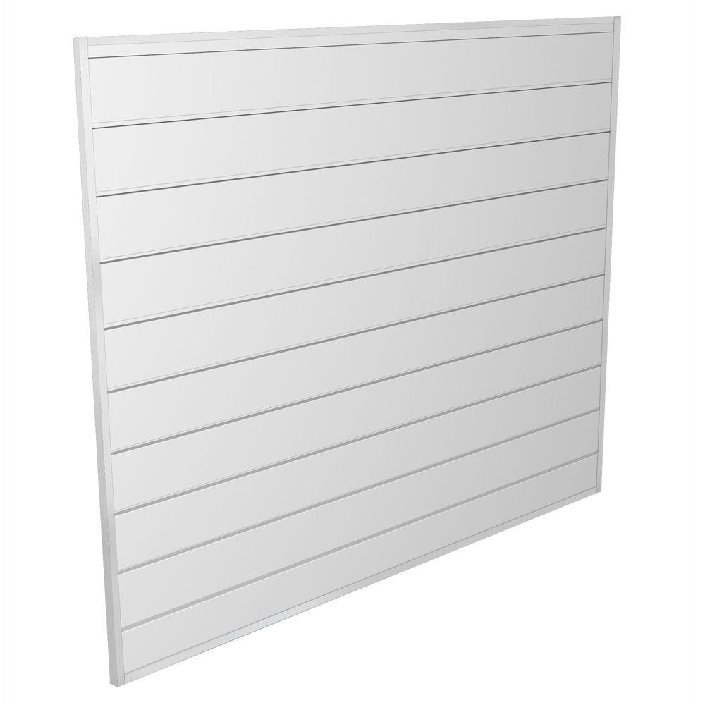 proslat 16 sq ft white wall panel kit 88103 the home depot. Black Bedroom Furniture Sets. Home Design Ideas