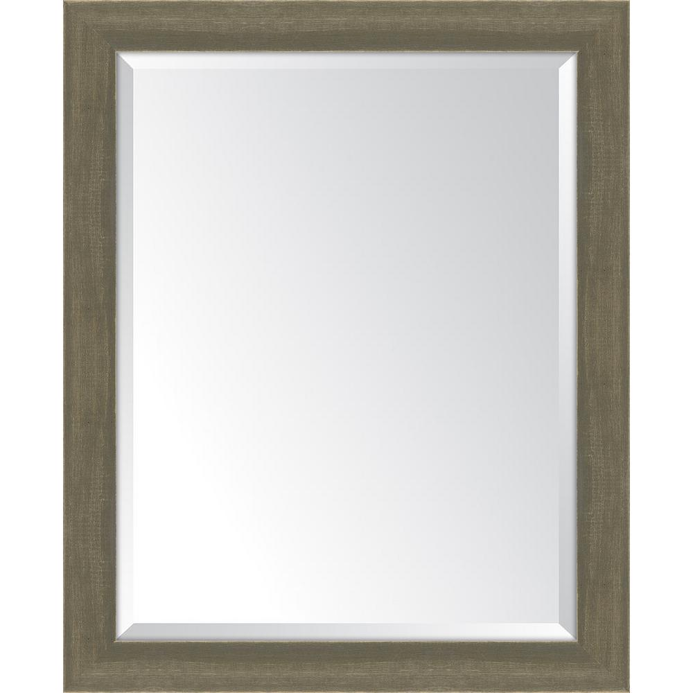 Melissa Van Hise 27 in. x 33 in. Framed Farmhouse Brown Large Mirror ...