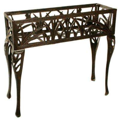 33 in. x 11 in. Metal Butterfly Rectangular Plant Stand