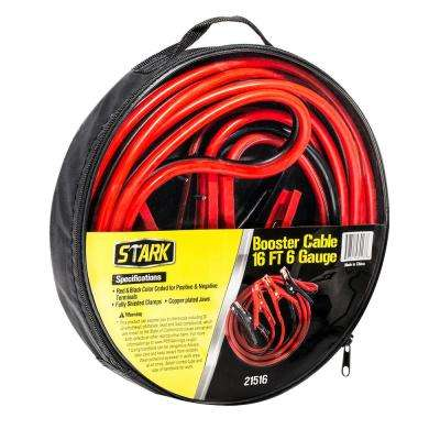 Heavy-Duty 16 ft. 6-Gauge Battery Booster Jumper Cables