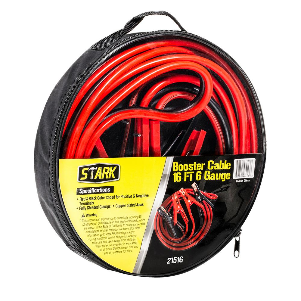 25 Ft 1 Gauge Battery Jumper Heavy Duty Power Booster Cable Emergency Truck Van