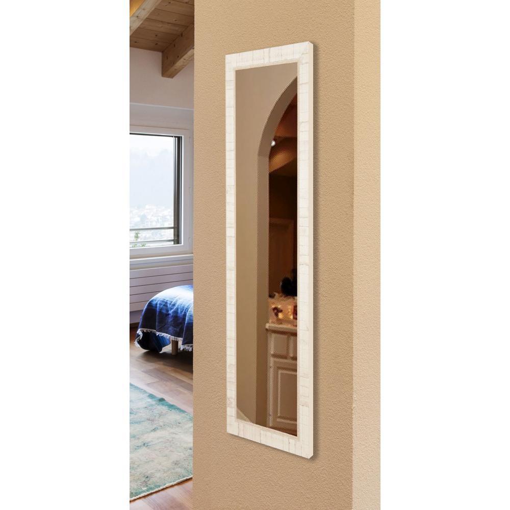 20 in. x 59 in. Vanity Tuscan Ivory Non Beveled Slender Body Mirror