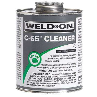 Weld-On C-65 PVC/CPVC/ABS/Styrene Cleaner, Clear, Low VOC, 1/2 Pint (8 Fl. Oz.)