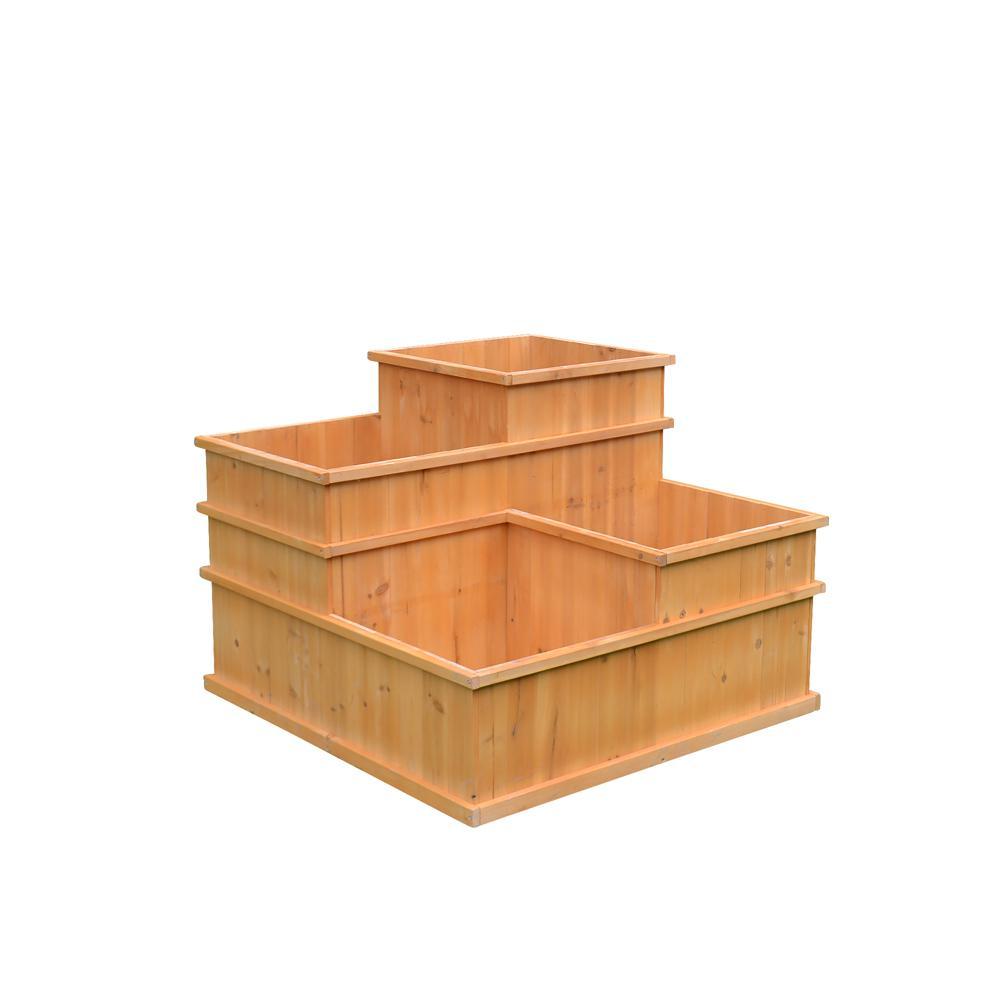 Wooden Multi Level Planter