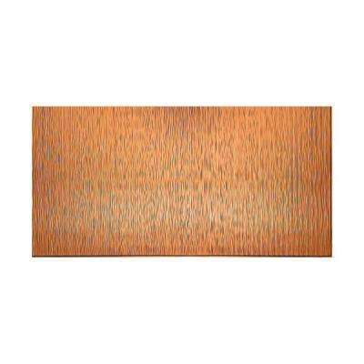 Ripple Vertical 96 in. x 48 in. Decorative Wall Panel in Polished Copper