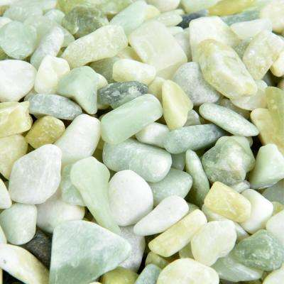 0.40 cu. ft. 3/8 in. - 5/8 in. 10 lbs. Small Jade Polished Rock Pebbles for Planters, Gardens, Aquariums and More